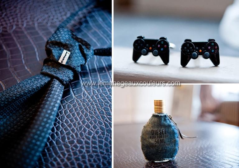 photographe mariage lille nord prparatifs du mari boutons de manchette originaux playstation console de - Photographe Mariage Dunkerque