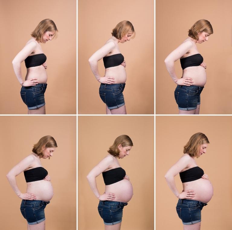 Photographe femme enceinte Lille photos de suivi de grossesse en studio dans le nord pas de calais
