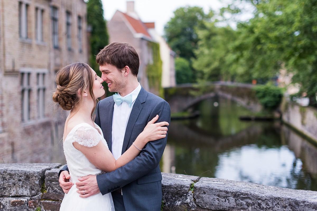 Séance photo de mariage à Bruges
