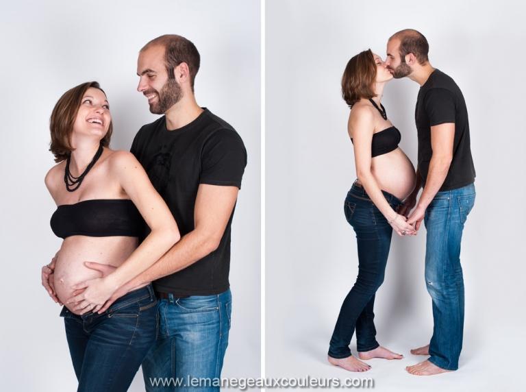 séance photo grossesse à Lille en studio - photographe femme enceinte Nord Pas de Calais