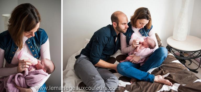 Séance photo nouveau-né en famille à Lille dans le Nord