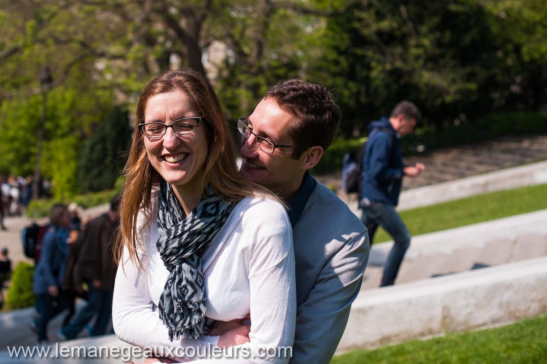 Parenthèse amoureuse dans les rues de Montmartre