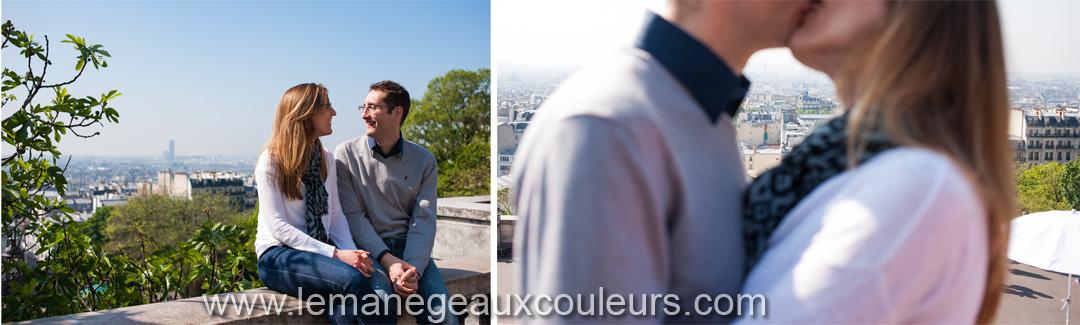 Parenthèse amoureuse dans les rues de Montmartre - belle vue sur Paris depuis la butte montmartre