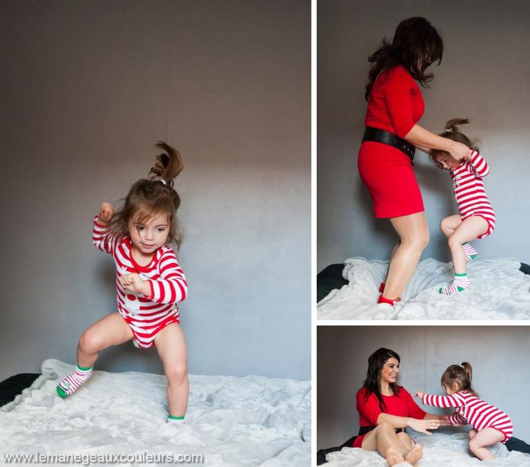 photographe famille nord les jeux avec maman sauter dans le lit c'est le meilleur moment de la journée