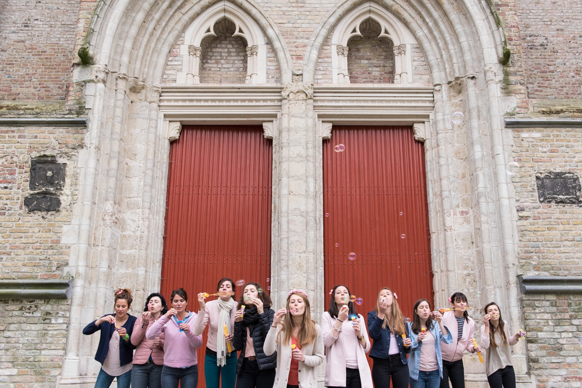 Séance photo EVJF Bruges | idées d'enterrement de vie de jeune fille à lille