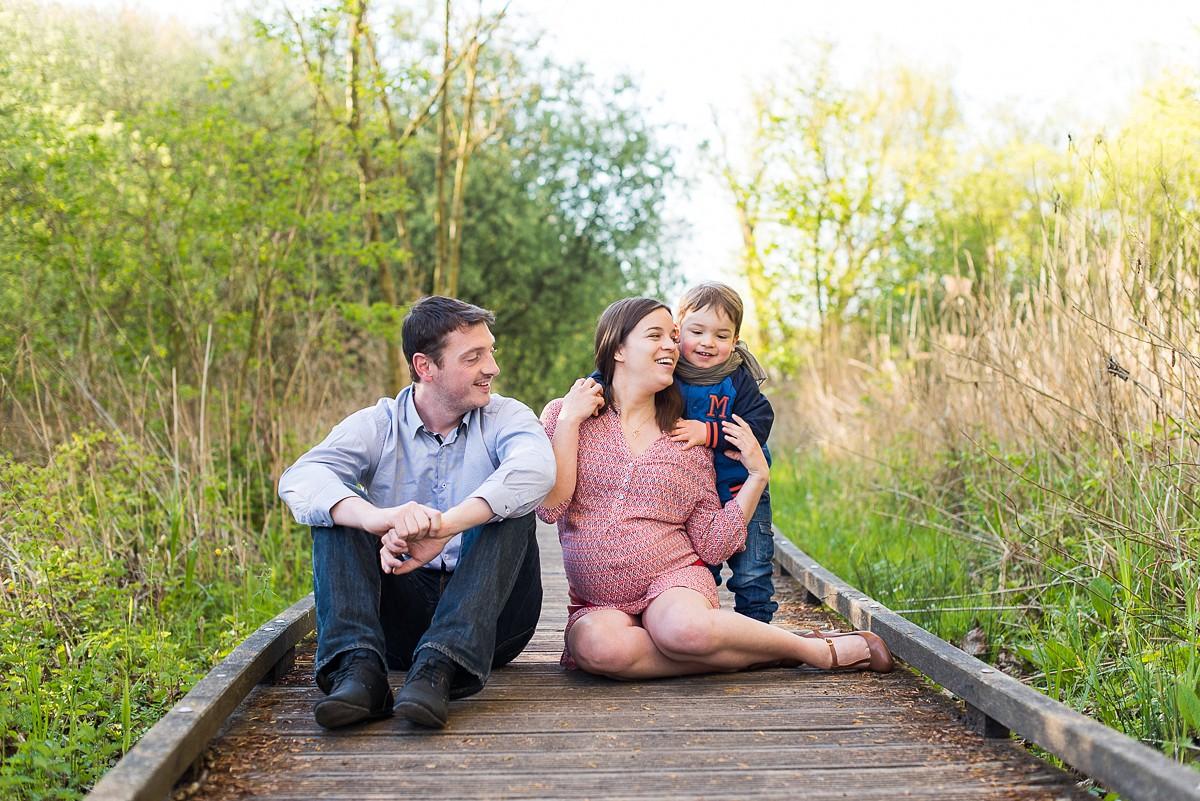 Séance photo de grossesse à Lille – marais de Fretin