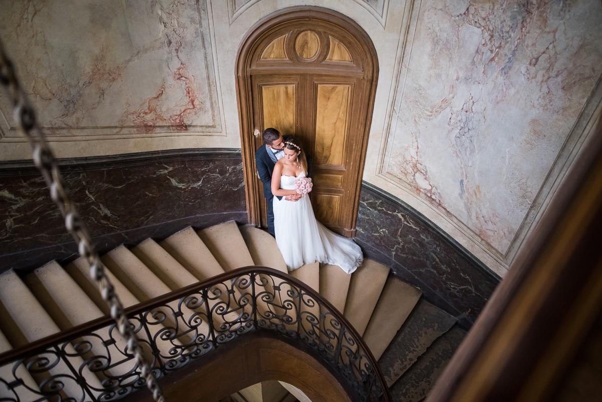 Photographe mariage à Paris | Séance Jeunes Mariés à la Galerie Vivienne