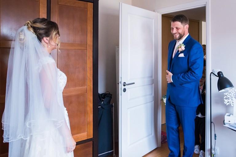 photographe mariage lille découverte des mariés moment rempli d'émotions