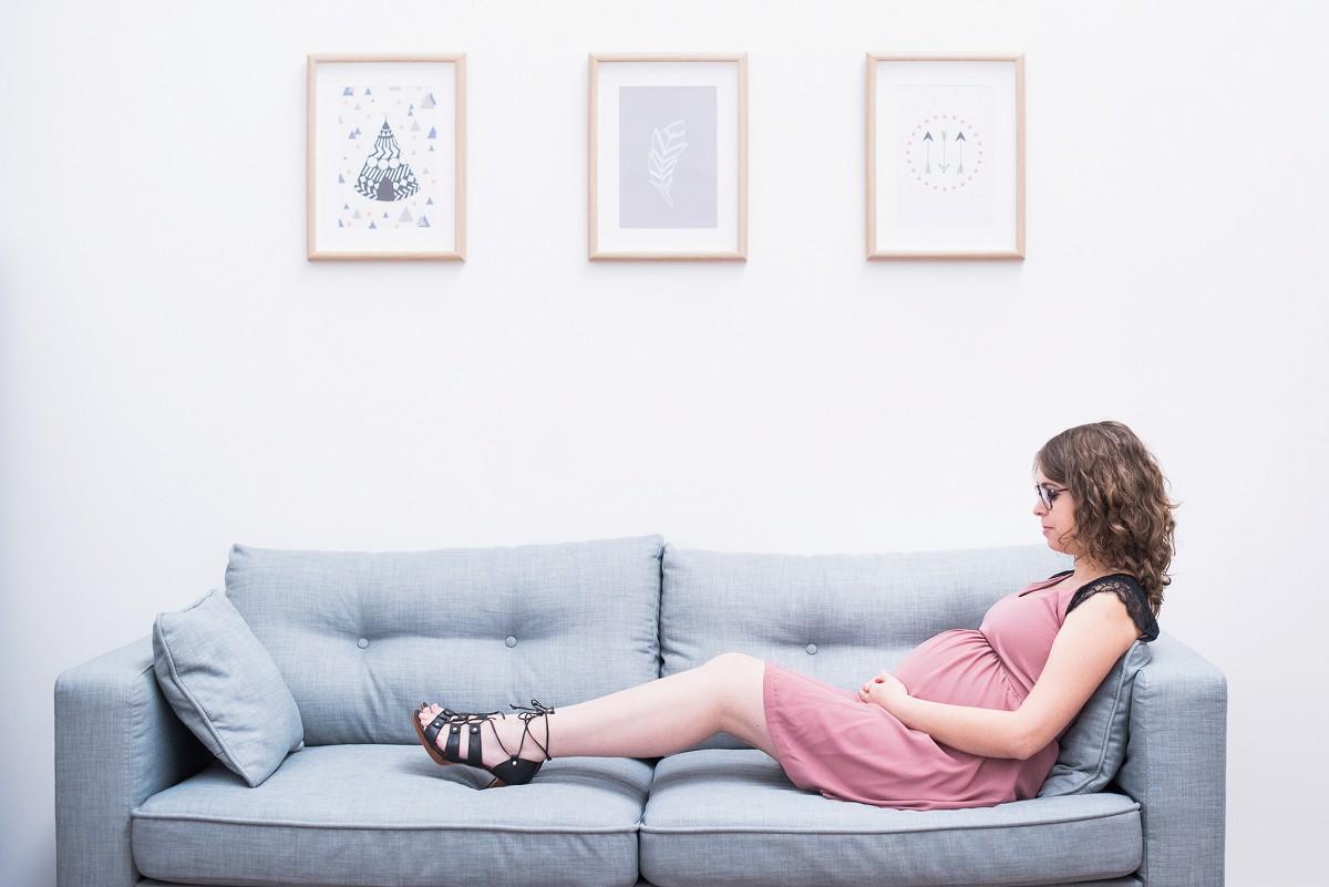 séance photo femme enceinte en studio lille