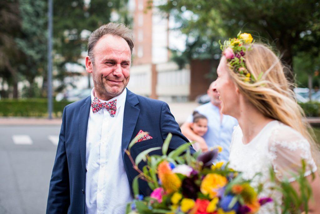 le papa de la mariée ému aux larmes un moment riche en émotions dans un mariage à Lille