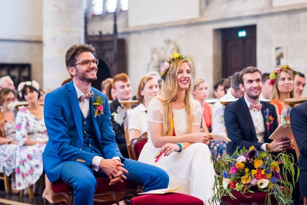 reportage mariage religieux église de marcq en baroeul