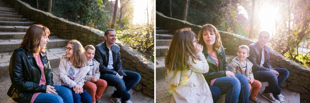 séance photo de famille au pont du gard
