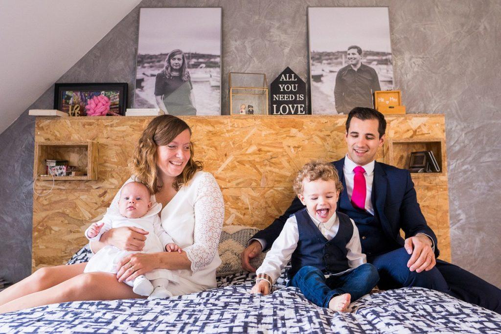 Photographe baptême Nord photo de famille à domicile