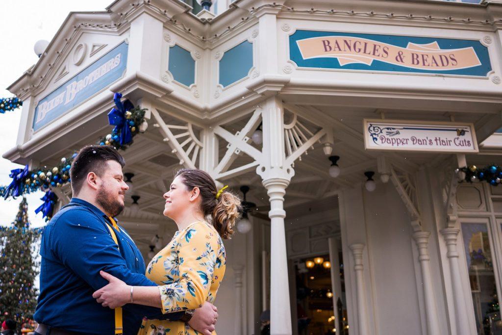 séance engagement à Disney Paris en hiver
