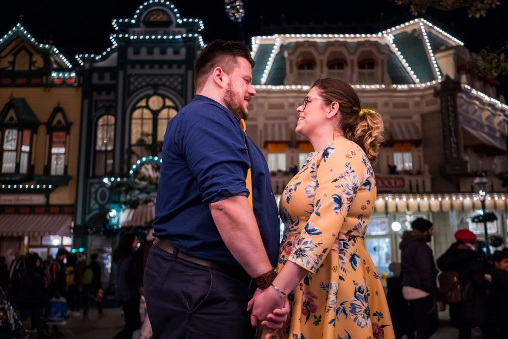 séance engagement à Disney paris by night