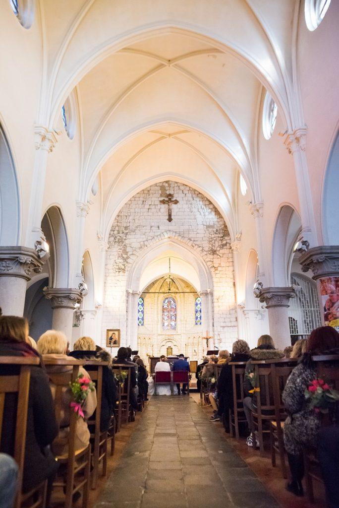 mariage à l'église de wattignies