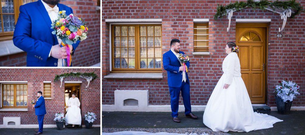découverte des mariés en hiver